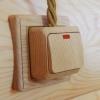 Накладки на бревно и блок-хаус для электрики