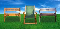 Складные скамейки, столы, стулья, шезлонги
