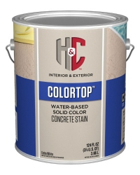 Силикон-акриловая пропитка H&C® COLORTOP Water-Based Solid Color Concrete Stain 3,785 л