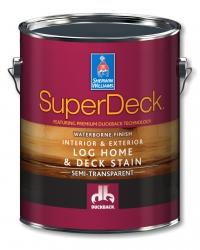Воднодисперсионная полупрозрачная пропитка для дерева SuperDeck Log Home & Deck WB Stain 3,785 л
