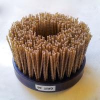 Щётка тарелка SIT, абразивный нейлон — диаметр 130 мм, зерно 36, черный корпус