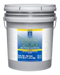Интерьерная латексная матовая краска ProMar 200 Interior Latex Flat  18 л