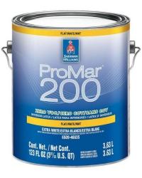 Интерьерная латексная матовая краска ProMar 200 Interior Latex Flat  0,95 л