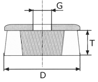 Щётка чашка SIT, абразивный нейлон — диаметр 140 мм, зерно 36, ворс волнистый